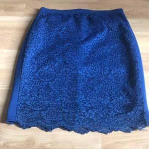 Forever 21 lacy blue stretchy skirt